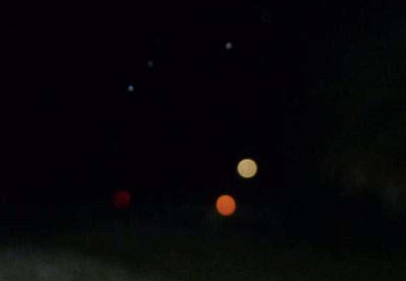 red orb in photo