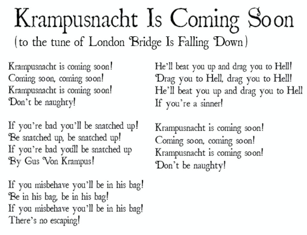 krampus poem for kids