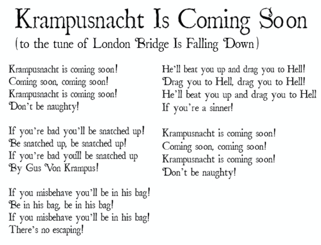 krampus poem for kids