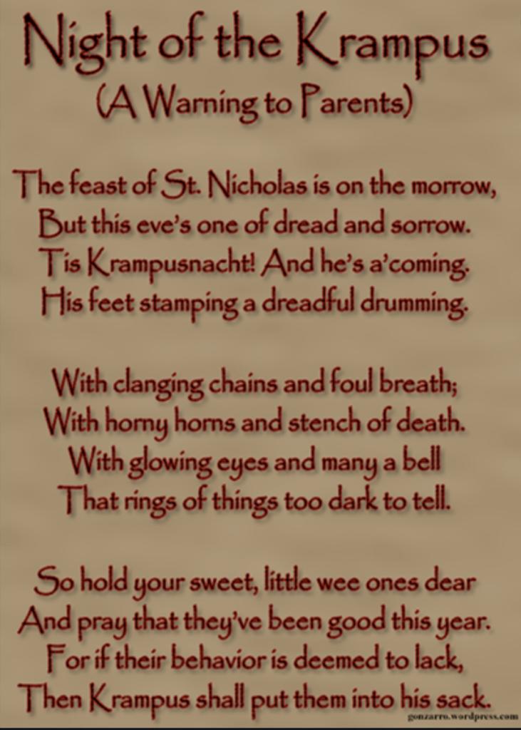 poems about german santa
