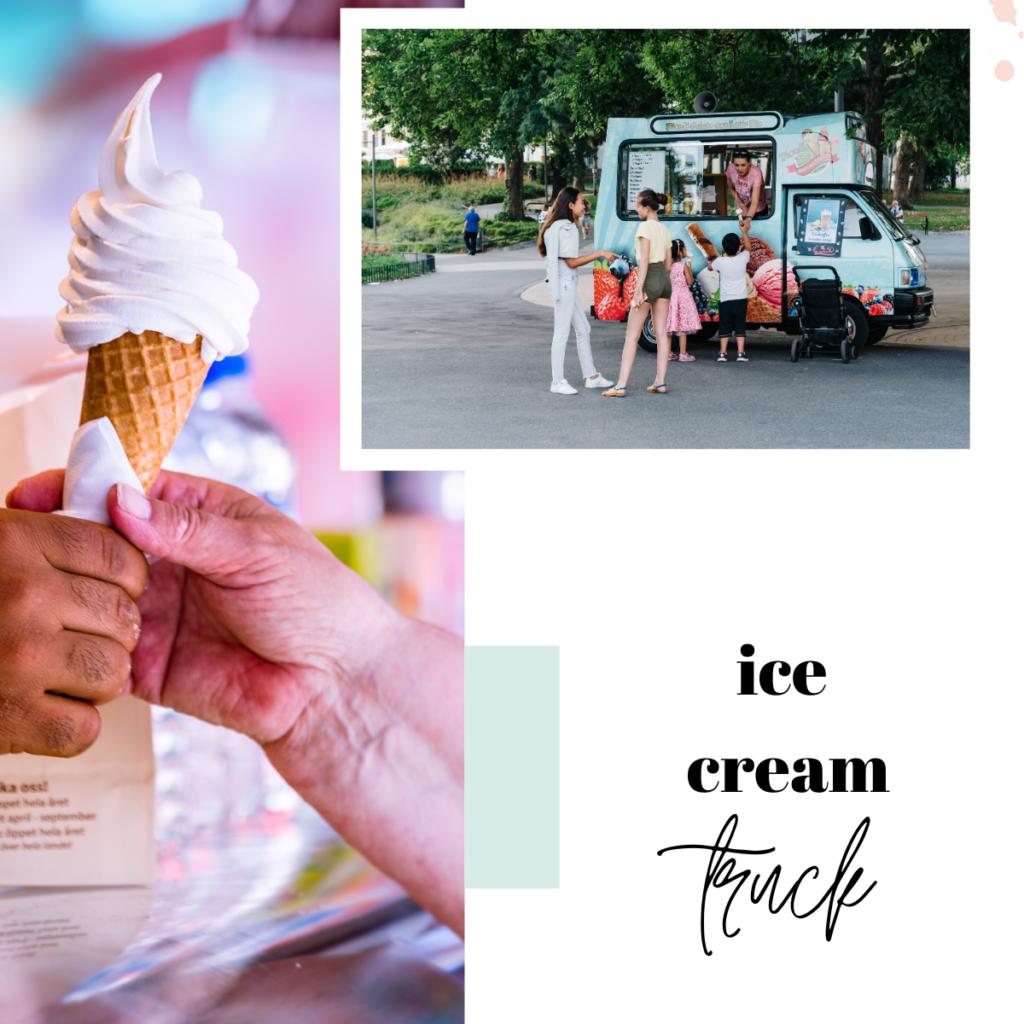 Ice cream truck dream symbol