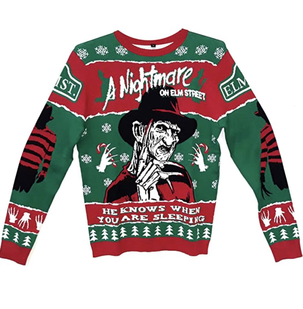 Nightmare On Elm Street Freddy Krueger Holiday Knit Sweater