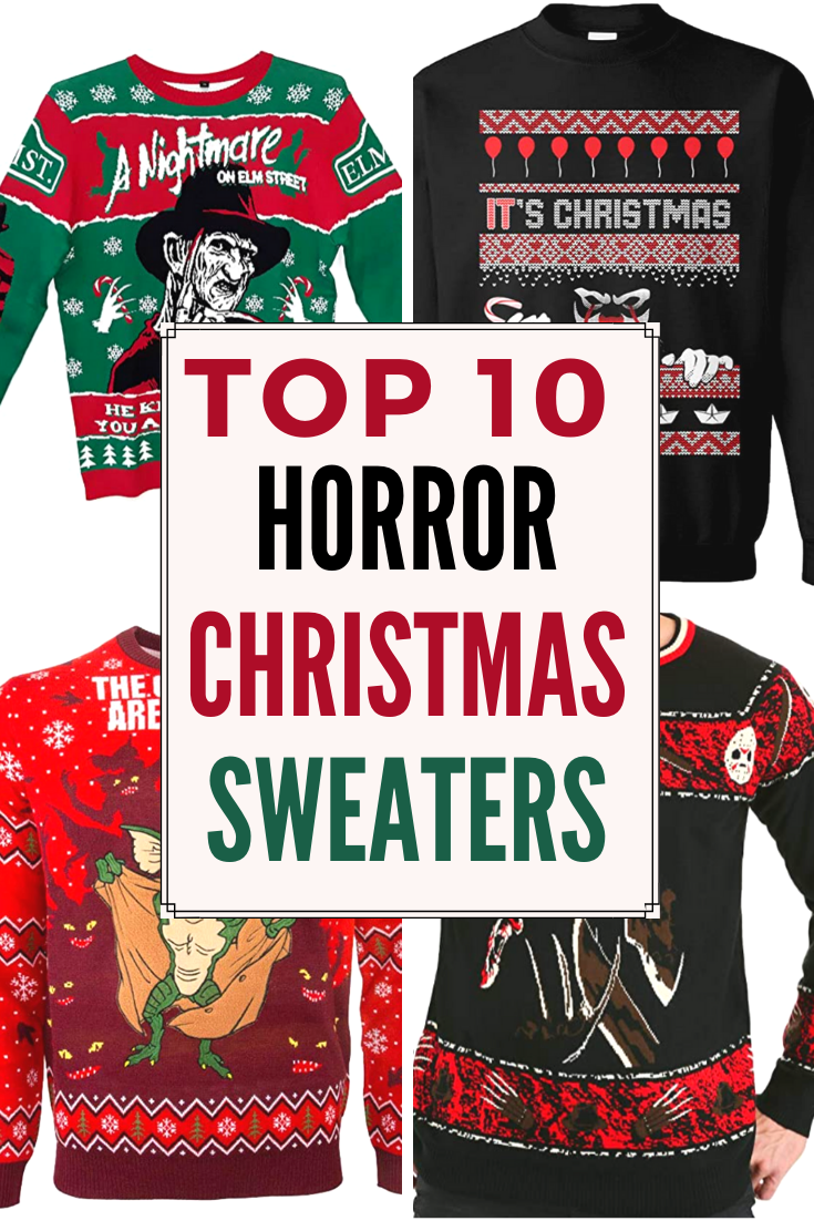 horror christmas sweaters