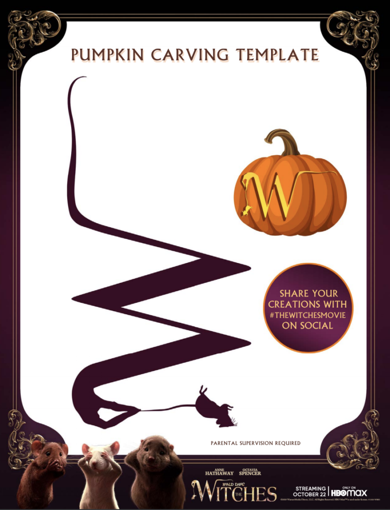 witch pumpkin carving templates