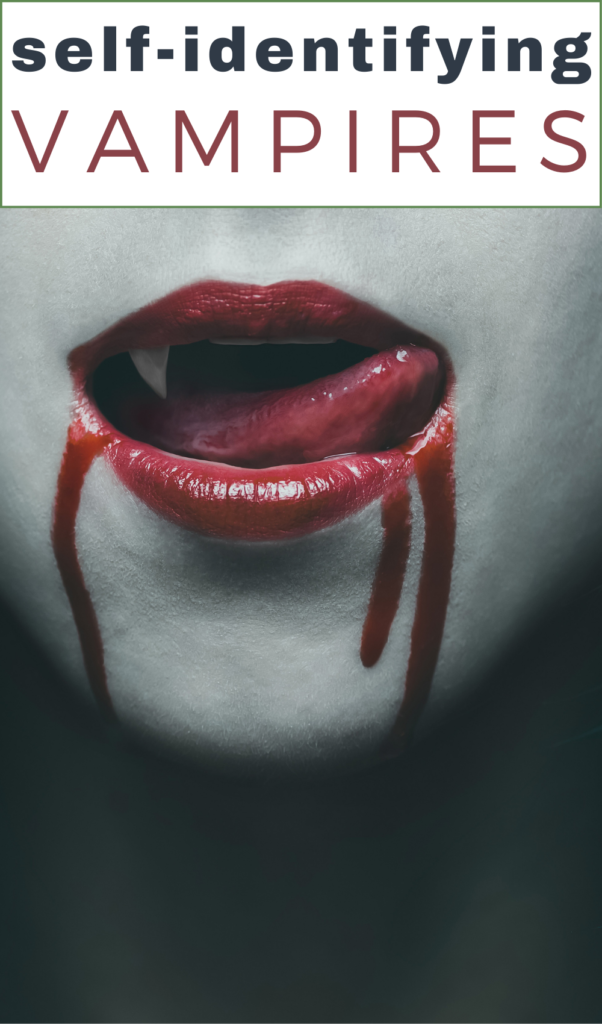 self identified vampire