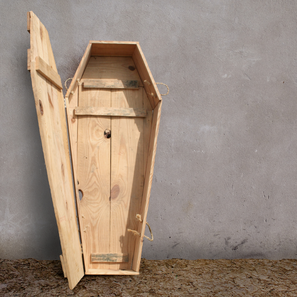 sleeping in a coffin